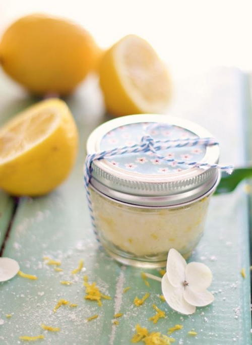 Easy Sugar Lemon Scrub Recipe