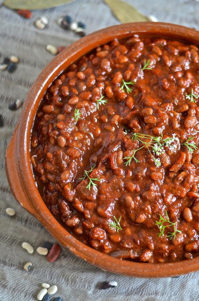 Slow Cooker Barbecue Baked Beans _1