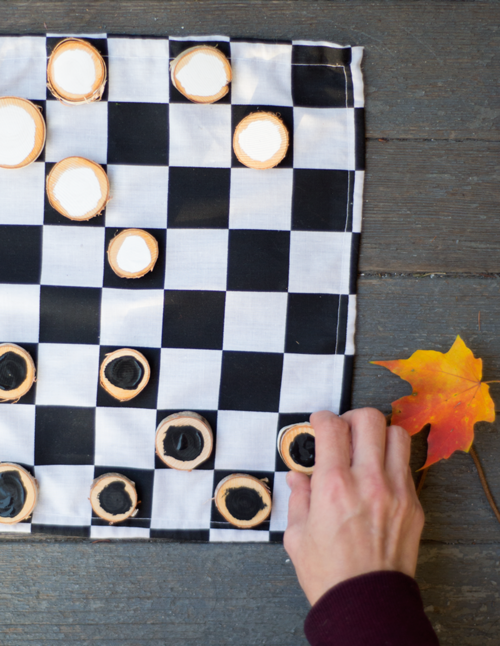 DIY Rustic Checkers Game