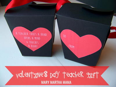 Teacher Valentine Takeout Box