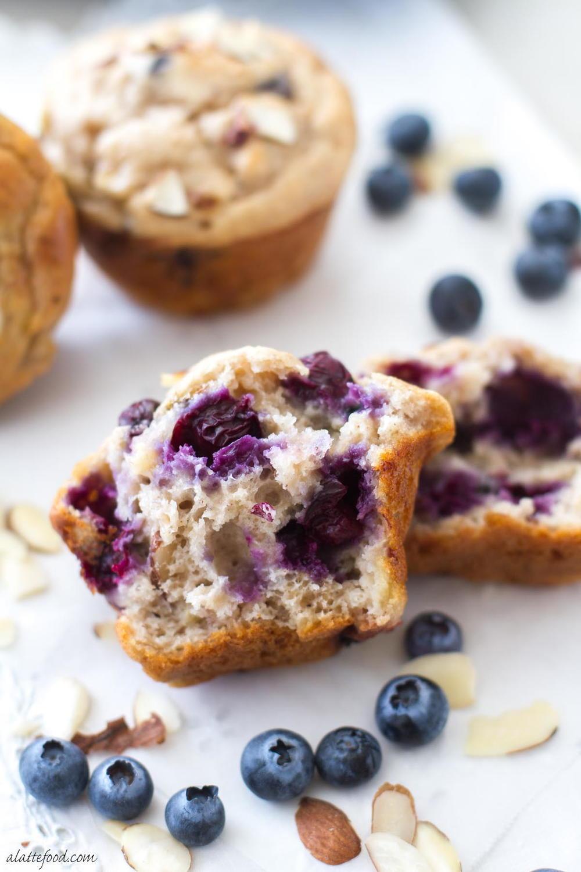 Blueberry Banana Muffins | TheBestDessertRecipes.com