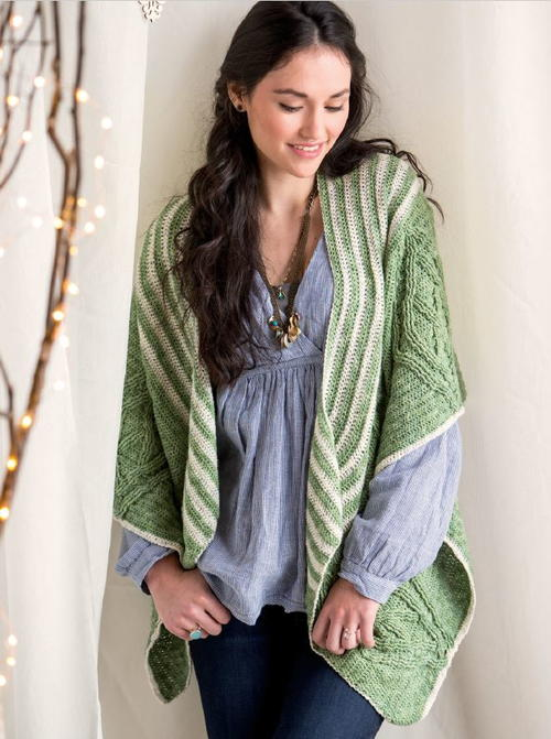 Cabled Shawl Crochet Pattern
