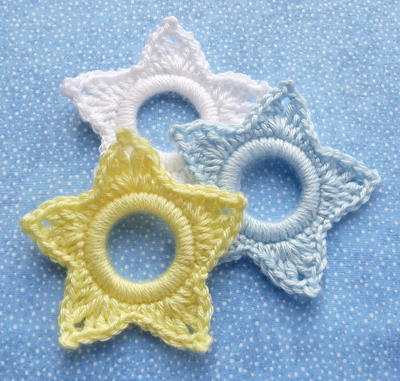 Crochet Shining Star Ornament