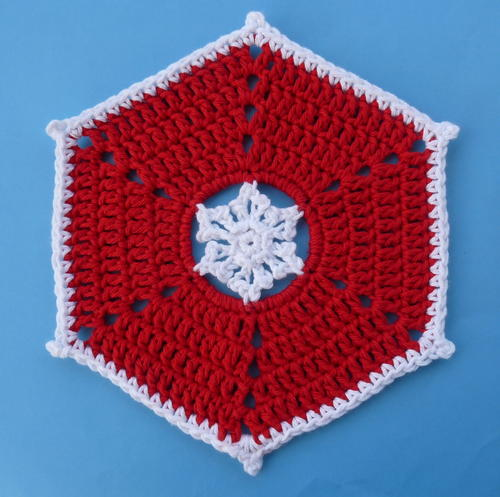 Snowflake Crochet Dishcloth