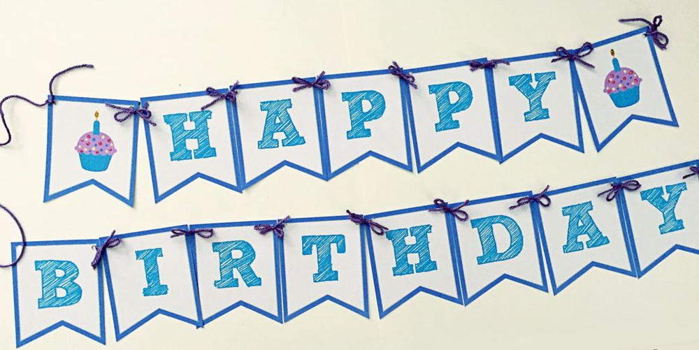 Happy Birthday Banner | AllFreePaperCrafts.com