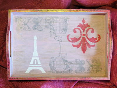 Vintage French Inspired Display Tray