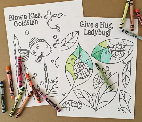 Goldfish And Ladybug Printable Coloring Pages