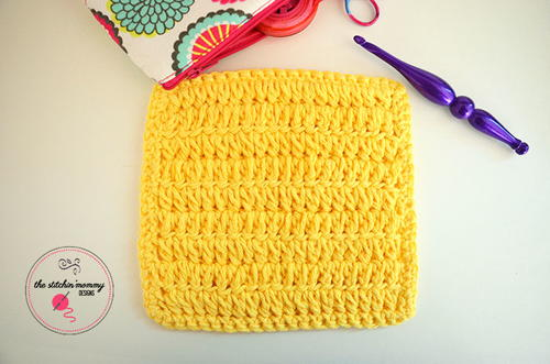 Forked Half Double Crochet Dishcloth