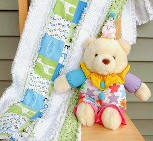 Snuggly Stripes Rag Quilt Pattern