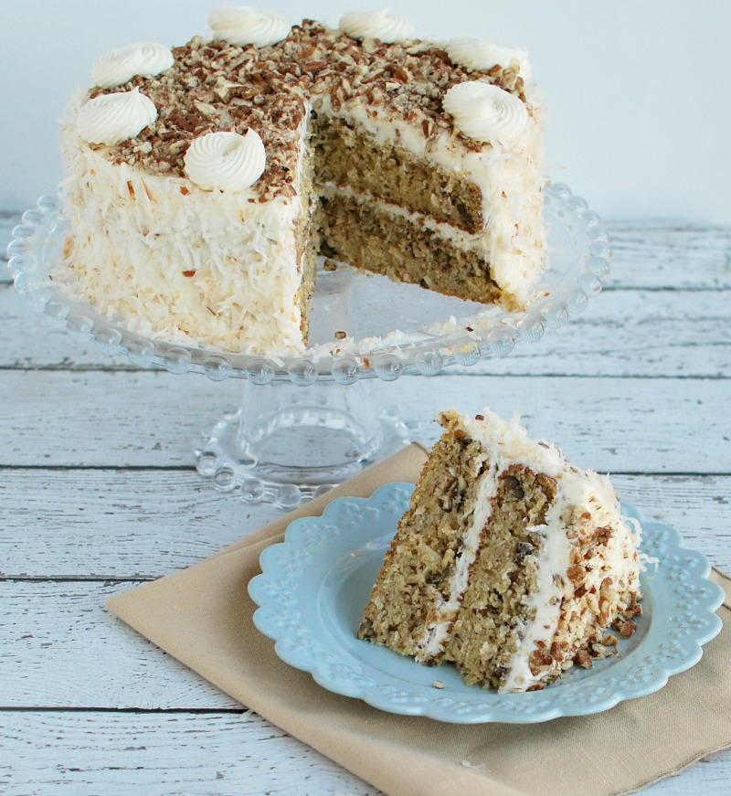 Coconut Pecan Italian Cream Cake Favesouthernrecipes Com