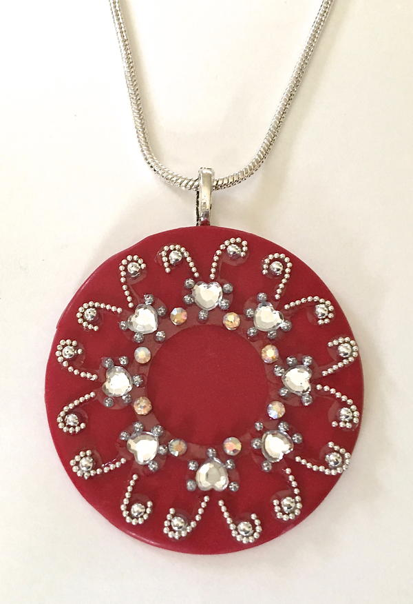 So Easy Red Crystal Necklace