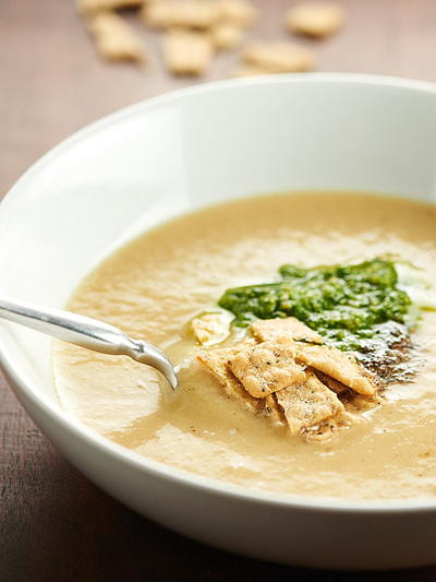 Healthy Cauliflower Leek Soup