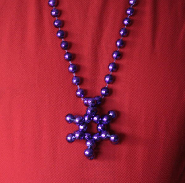 Mardi Gras Beads Star DIY Necklace