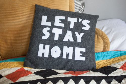 Let's Stay Home Pillow Sewing Pattern