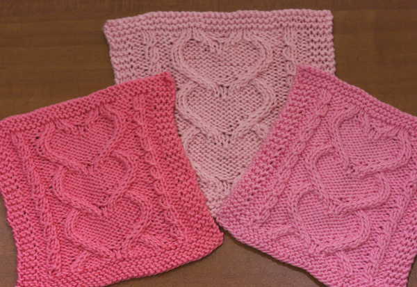 Big Heart Knitting Pattern : I Heart You Washcloth AllFreeKnitting.com