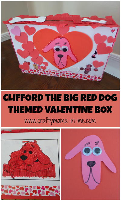Clifford the Big Red Dog Themed Valentine Box