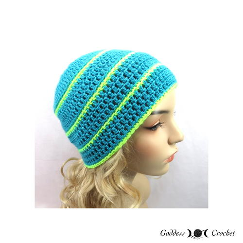 Occasional Stripes Crochet Beanie Pattern
