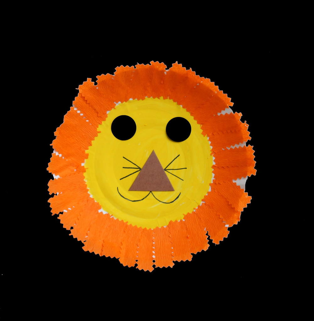 Paper Plate Lion Allfreeholidaycrafts Com