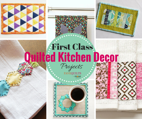24 First-Class Quilted Kitchen Decor Projects
