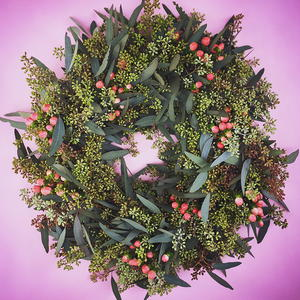 Fresh Foliage Valentine DIY Wreath