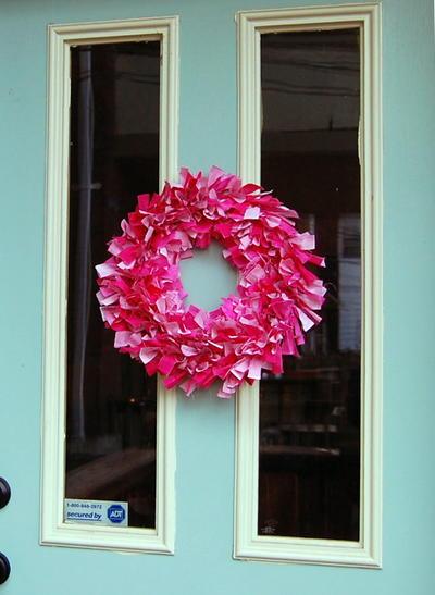 Valentine's Rag Wreath