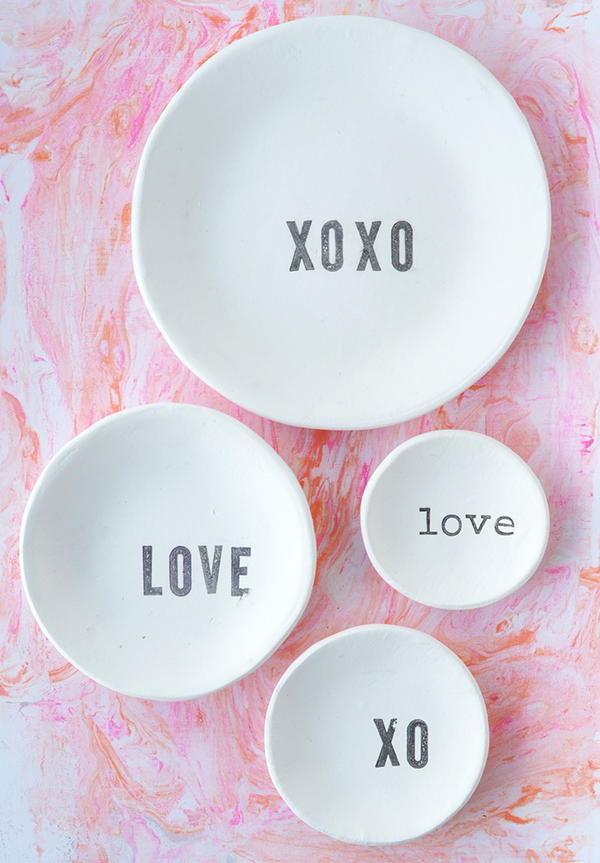 Stamped Bowl Valentine's Day Crafts