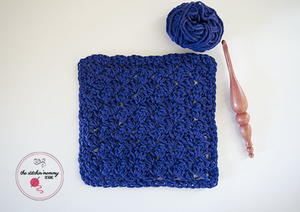 Modified Sedge Stitch Crochet Dishcloth