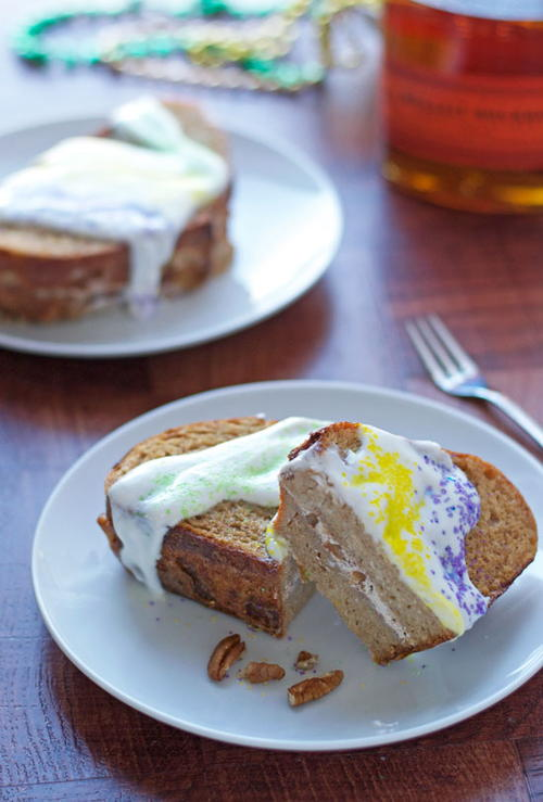 Mardi Gras King Cake French Toast