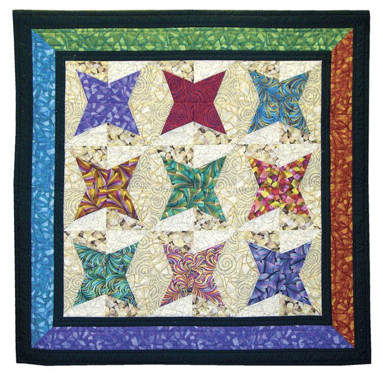 Rising Star Patchwork Quilt Block Favequilts Com