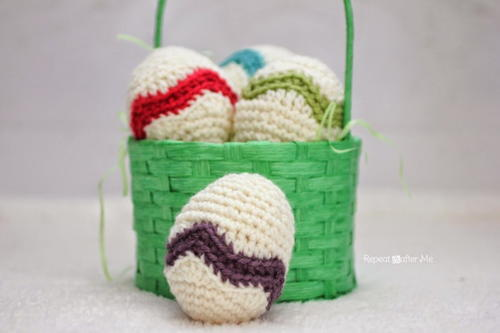 Easter Egg Chevron Crochet Pattern