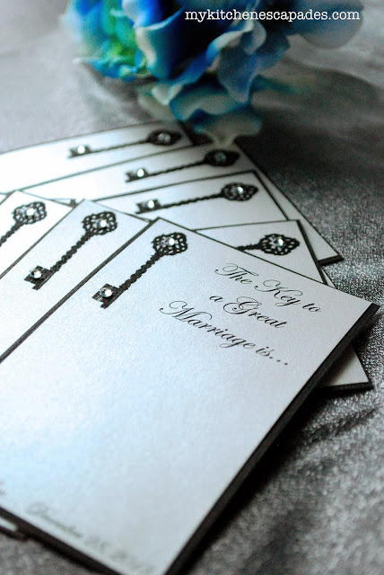 Dazzling Wedding Advice Cards