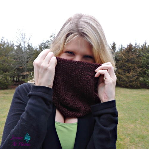 Twisted Knit Cowl Pattern