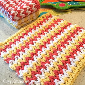 Easy ZigZag Crochet Hand Cloths