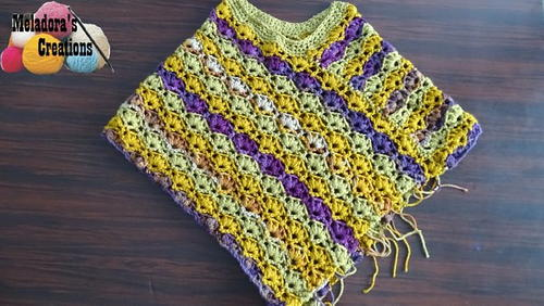 Winsome Crochet Poncho Pattern