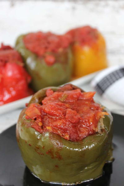 No-Fuss Slow Cooker Stuffed Peppers