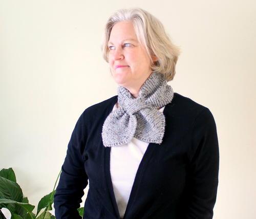 Garter Stitch Bow Tie Scarf Allfreeknitting Com