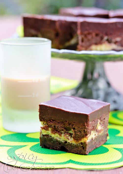 Sinful Irish Car Bomb Brownies