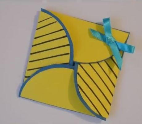 Simple origami card for How to make folded christmas cards