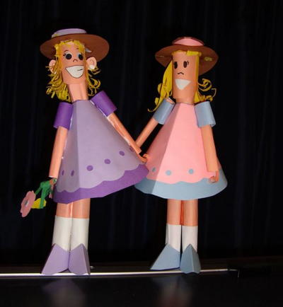 Little Girl 3D Paper Dolls