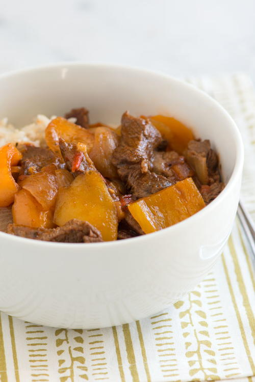Pepper Steak for Slow Cooker
