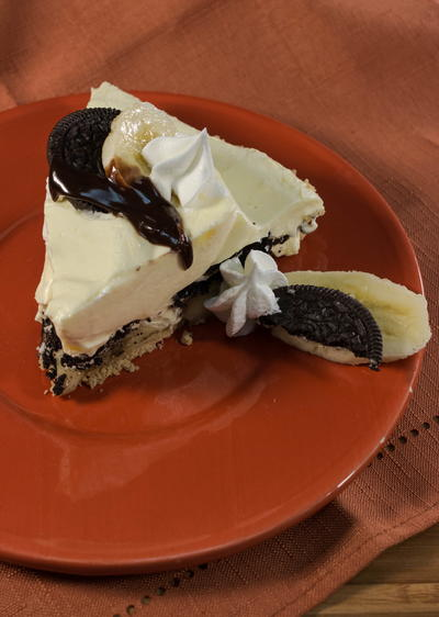 No Bake Overnight Banana Oreo Cream Pie