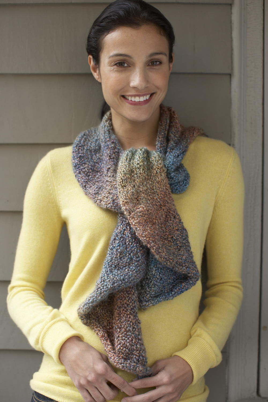 Arizona dusk scarf for Fave crafts knitting patterns