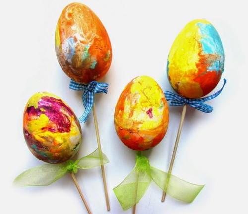 DIY Easter Eggs on a Stick