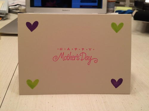 Simple and Sweet Stamped Mothers Day Card