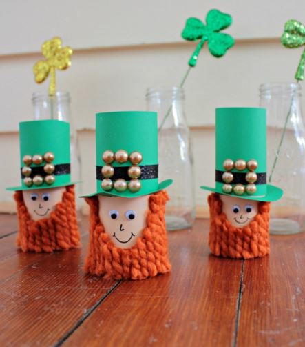 Toilet Paper Roll Leprechaun Craft