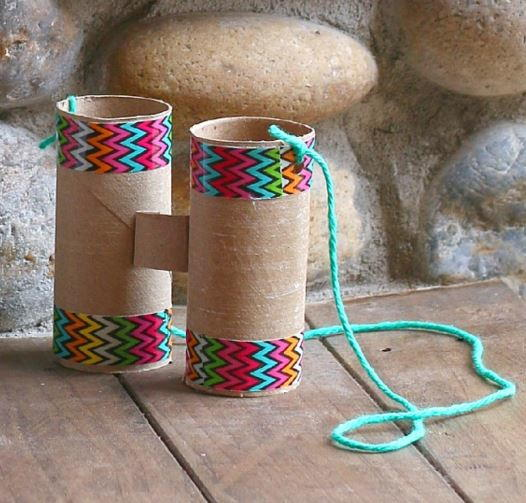 Toilet Paper Roll Binoculars Craft