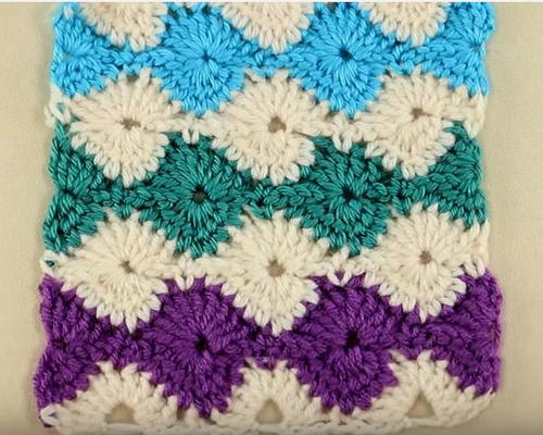 Catherine Wheel Crochet Stitch Tutorial