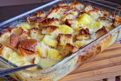 Heavenly Hawaiian Bread Pudding