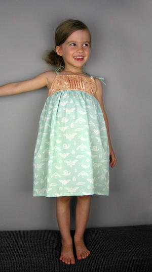 English Garden Girl's Dress