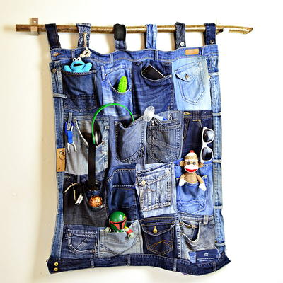 Denim Pockets DIY Organizer